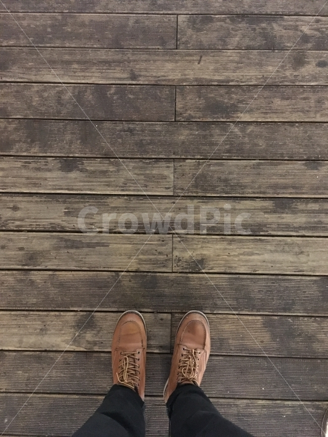 신발, 나무, 발, 나무배경, 배경