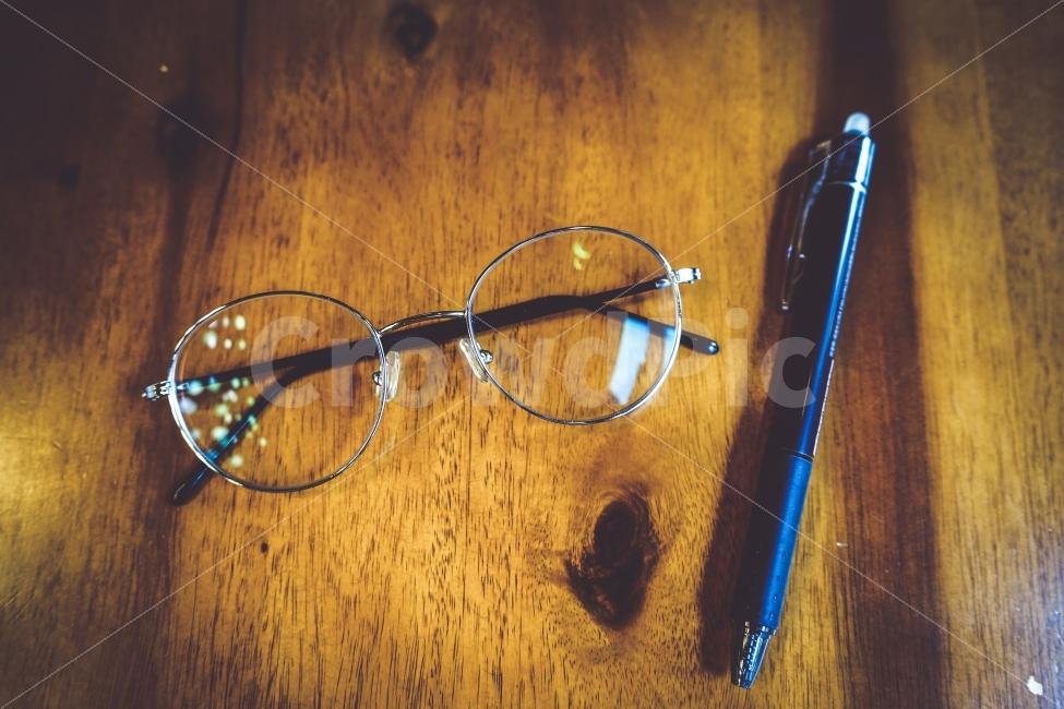 비지니스, 안경, 펜, 감성사진, 풍경