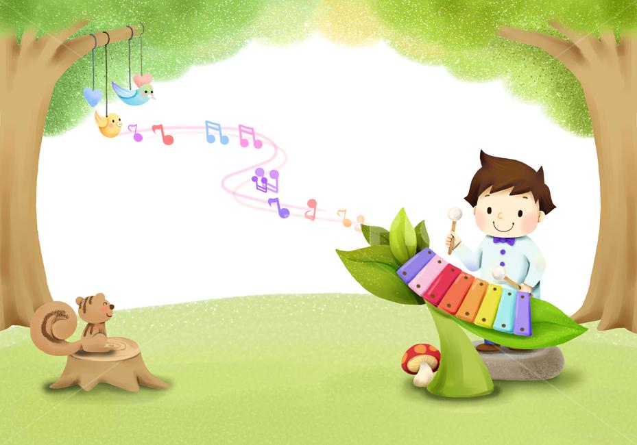 소년, 어린이, 키즈, 유치원, 음악회