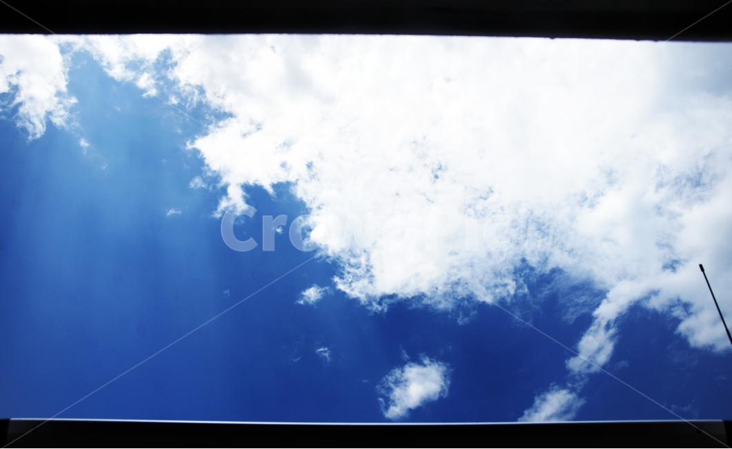 썬루프, 여름, 하늘, 구름, 파란색