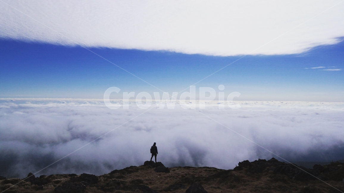 하늘, 구름, 한라산정상, 결심, 자유