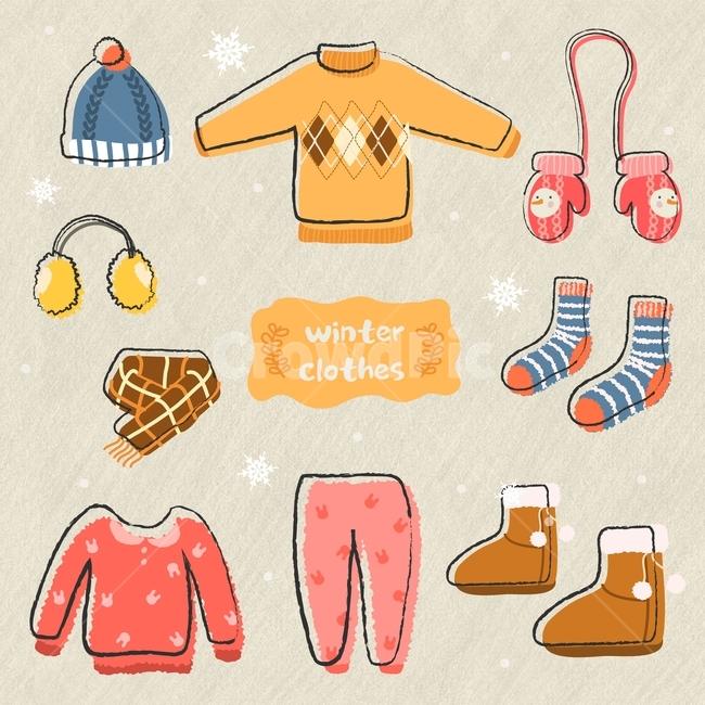 니트, 수면잠옷, 털모자, 귀마개, 옷