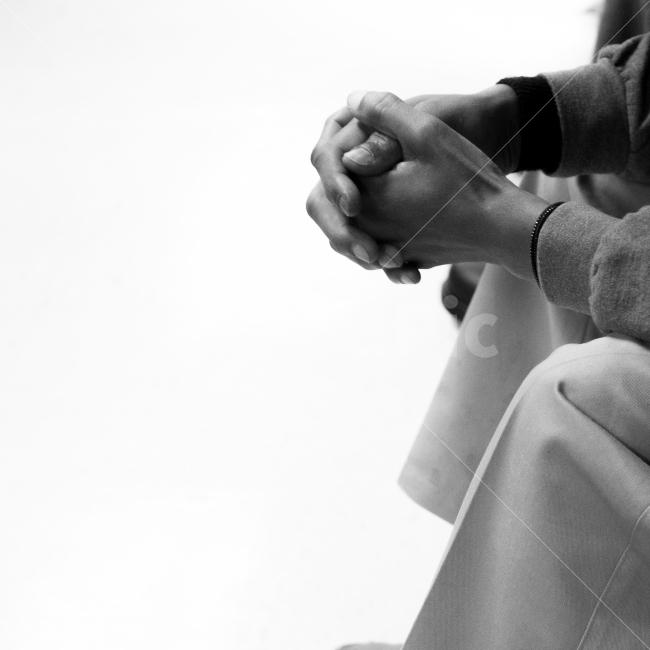 손, 기도, 흑백, 인물, 손사진