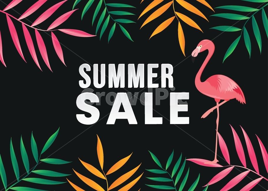 여름, 여름철, 판매, 세일, 배경