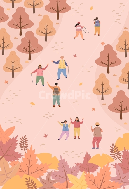 가을, 단풍, 단풍잎, 등산, 트레킹