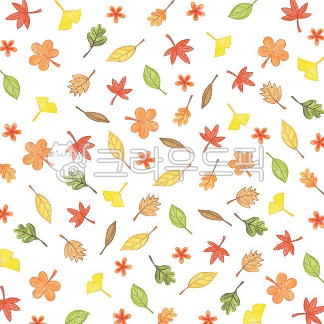 배경, 가을, 낙엽, 일러스트, 패턴