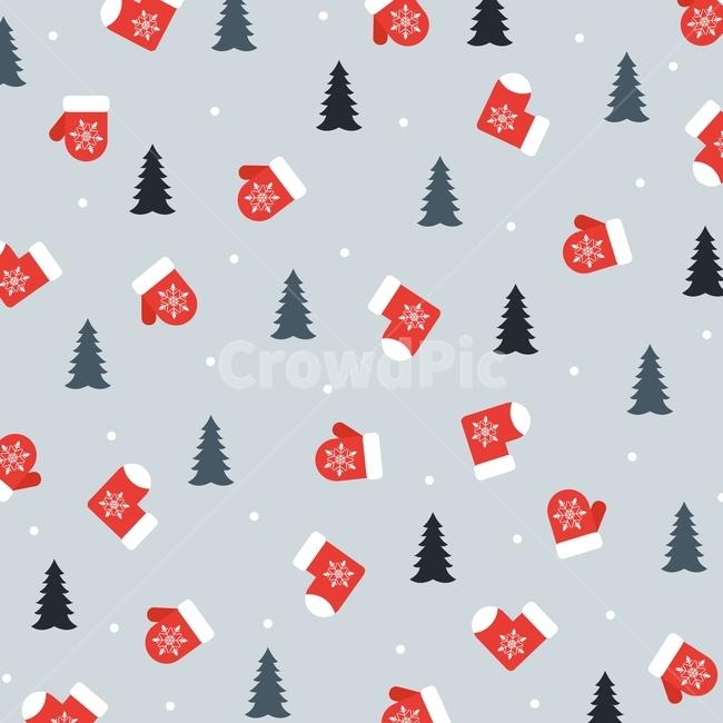벙어리장갑, 장갑, 양말, 나무, 눈