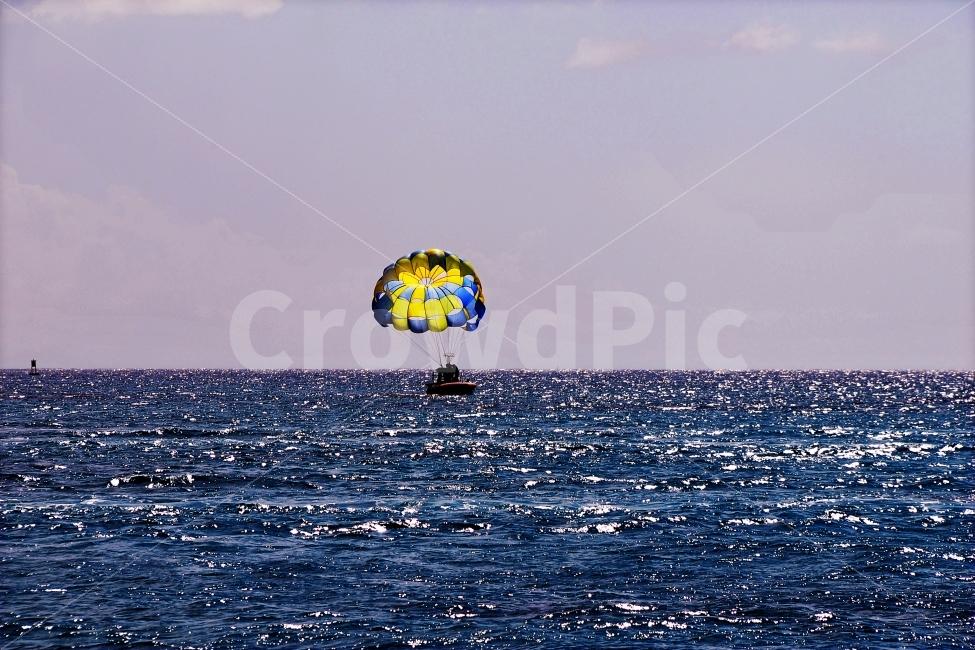 바다, 해양스포츠, 패러글라이딩, 여름휴가, 썸머