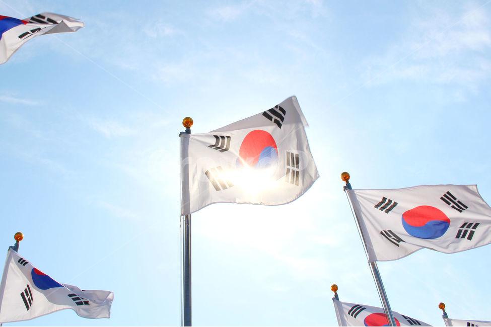 태극기, 한국, 대한민국, 하늘, 깃발