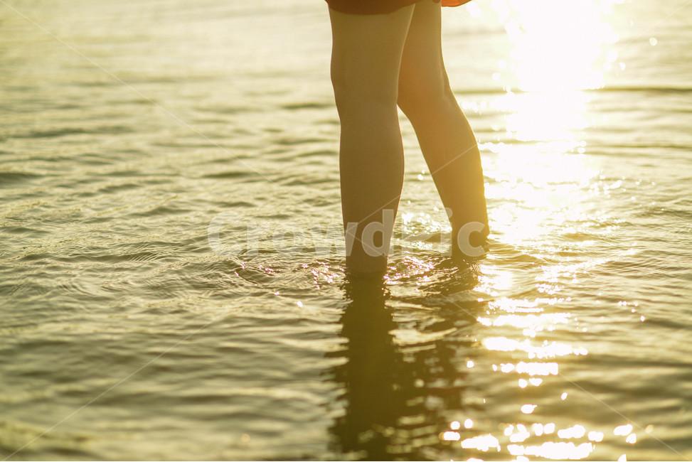 노을, 일몰, 바다, 따스함, 빛