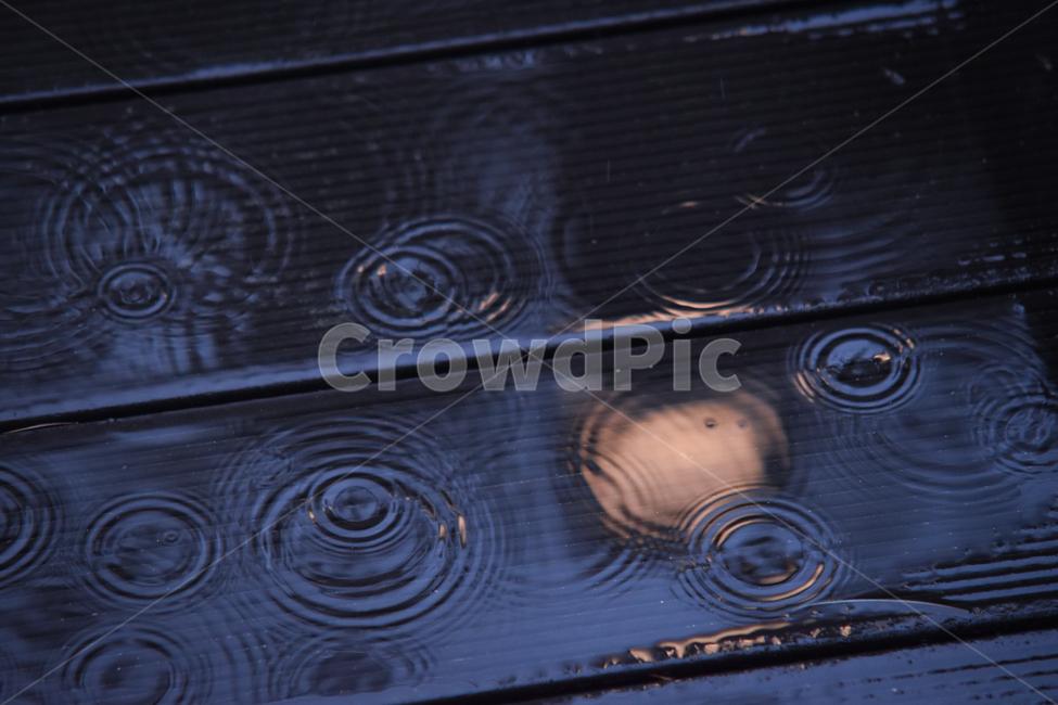 빗방울, 비, 방울, 반영, 감성