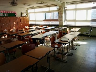 빈교실-교실-학교-책상-하교