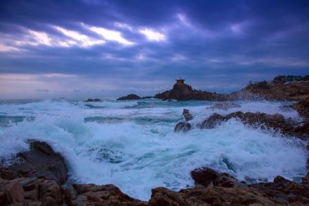파도-바다-구름-흐림-풍경