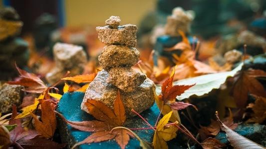 돌탑-낙엽-경주-불국사-가을낙엽