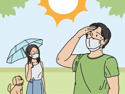 여름-더위-야외활동-마스크-햇빛