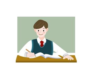 삽화-공부-학생-교복-남학생