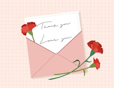 가정의달이미지공모전-카네이션-편지-카드-메시지