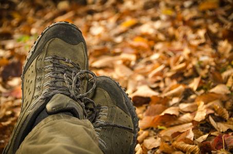 가을-등산화-낙엽-단풍-발