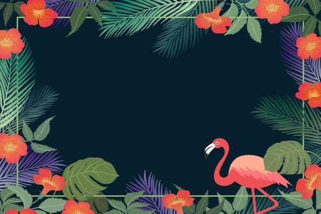 트로피컬-플라밍고-tropical-야자수-여름