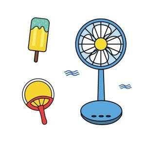 여름-아이스크림-선풍기-부채-여름일러스트