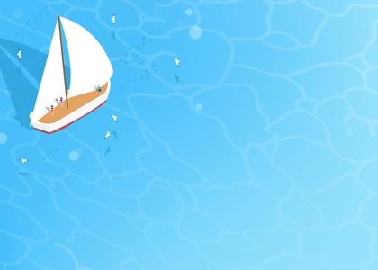 바다-물결-배-돛단배-갈매기