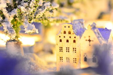 미니어쳐-크리스마스-겨울풍경-장식물-데코레이션