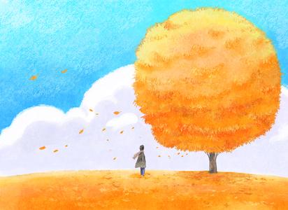 가을일러스트-가을-계절-사계절-가을풍경