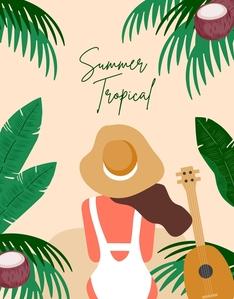 일러스트-계절-시즌-여름-트로피컬