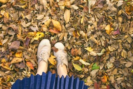 가을-낙엽-단풍-자연-소녀