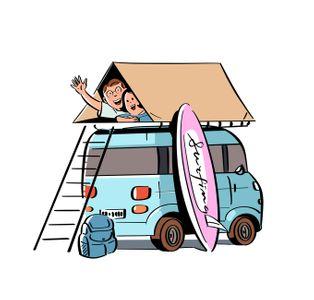 캠핑-캠핑카-텐트-자동차-가족