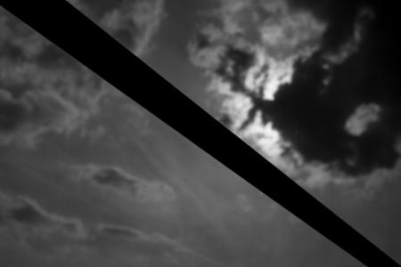 하늘-구름-흑백-자연-어두움
