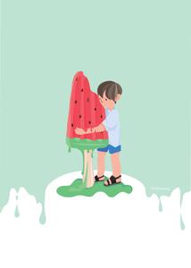 수박바-여름-여름일러스트-아이스크림일러스트-아이스크림