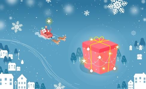 선물상자-마을-썰매-산타-산타클로스