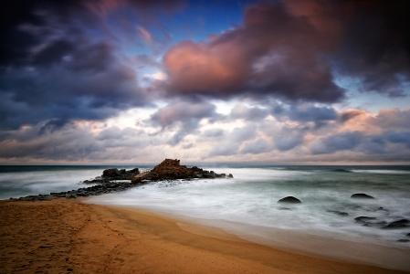 자연풍경-일출-해변-바닷가-강릉