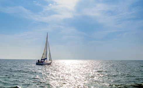 바다-요트-항해-하늘-배