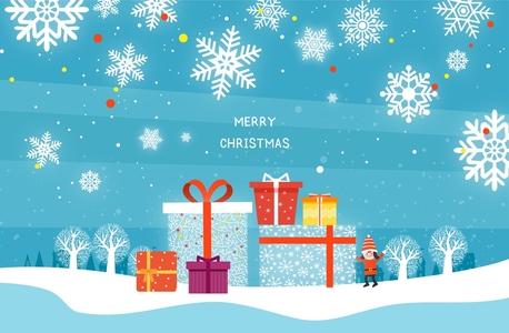 눈-눈결정-선물상자-나무-겨울