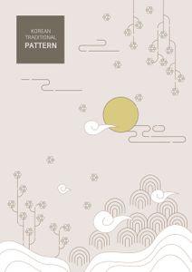 전통-문양-전통적인-패턴-추석