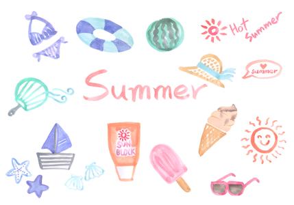 손그림-여름-바캉스-바다-여름휴가