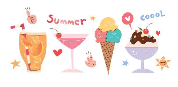 아이스크림-여름-여름일러스트-벡터-일러스트