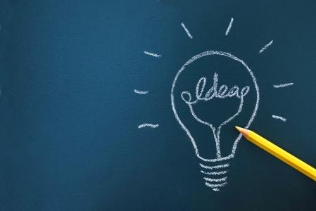 칠판-분필-전구-아이디어-idea