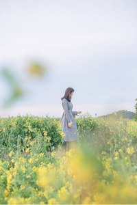 봄-제주도-유채꽃-꽃-여자