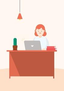 homeoffice-온라인-재택근무-노트북-작업