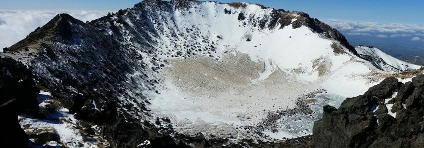 한라산-제주도-백록담-등산-파노라마