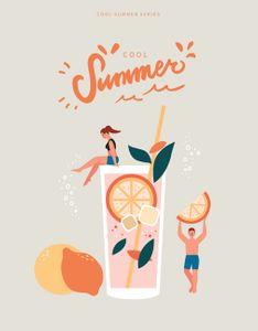 여름-칵테일-레몬-모히또-포스터